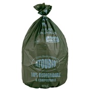 Box of 100 green garbage bags 110 L compostable Atoubio