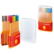 Stabilo Point 88, drawing set of 20 coloured felt pens