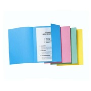 Packet of 50 file-covers with lateral fold yellow