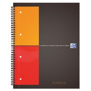 Notebook 5/5 white perforated 160p 230x297 mm
