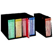 Set of 5 containers with 15 assorted folders