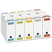 Archive box, back 8 cm, assorted colours