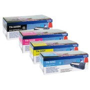 Pack of 4 toners Brother TN325 black + colours
