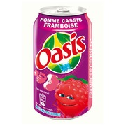 Oasis Apple Cassis Raspberry cans 33 cl - Box of 24 cans