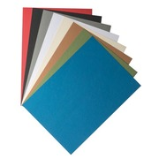 Pack of 100 covers in cardboard 270 g Clairefontaine assorted colours