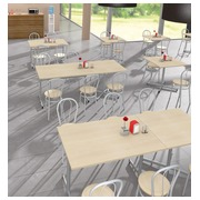 Pack Vilma 2 - Rectangular table + 4 chairs beech