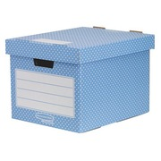 Mini archive boxes in cardboard Fellowes Style H 33.5 x W 40.4 x D 29.2 cm blue