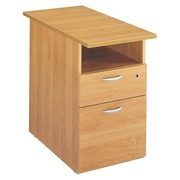 Drawer cabinet at desk height Start Plus D 80 cm - alder