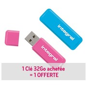 Pack of 1 + 1 USB stick Integral Neon 32 Gb