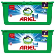 Pack 1 doos Ariel Pods 3-in-1 alpine + 1 gratis