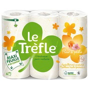Toilet paper triple layer Le Trèfle peach blossom - pack of 12 rolls