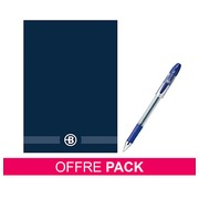 Pack 10 notepads Manager A5 + 5 roller pens Bruneau for free