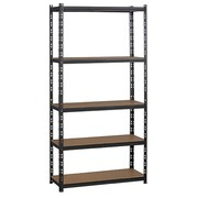 Office rack Concepto H 192 cm - shelves in chipboard without borders