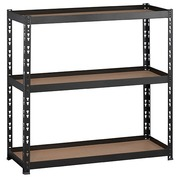 Rack Concepto H 97 x W 100 cm with 3 shelves in chipboard with edges