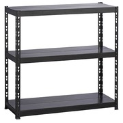 Rack Concepto H 97 x W 100 cm with 3 metallic shelves without edges