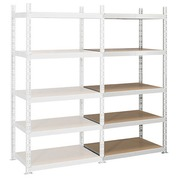 Archive rack Industri'Eco 2 basis element H 200 x W 100 x D 60 cm in galvanized steel plate