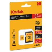 Micro SDHC memory card 32 GB with SDHC adapter - class 10