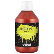 Darwi acrylverf Metal effect, flacon van 250 ml, leder