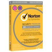 Norton Security Premium  2019 - 10 Apparaten - 1 Jaar - Antivirus inbegrepen - Windows - Mac - iOS - Android