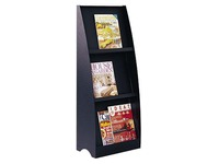 Design display 3 compartments - black