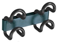 Saga wall hanger, 2 coloured double hooks, length 23 cm