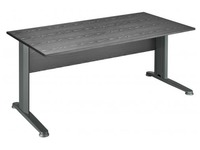 Start Plus, straight desk, black top 160 x 80 cm, metallic legs