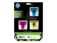 Pack van 3 cartridges HP 363 kleur