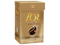 Pack of 250g ground coffee, pure Arabica absolute