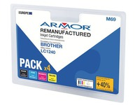 Pack cartridges Armor compatibel Brother LC1240 4 kleuren voor inkjetprinter