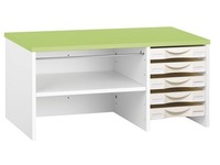 Storage furniture Intuitiv' white - green