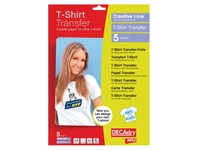 Decadry T-shirt Transfer Paper voor licht of wit textiel